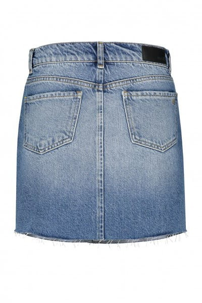 Nikkie by nikkie becky denim mini rok licht blauw - Nikkie By Nikkie