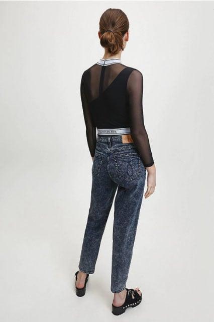 Calvin klein jeans asymm logo milano zwart - Calvin Klein Jeans
