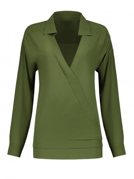 Nikkie river blouse army green - Nikkie By Nikkie