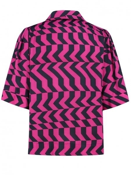Fifth house rara pussy bow top roze - Fifth House