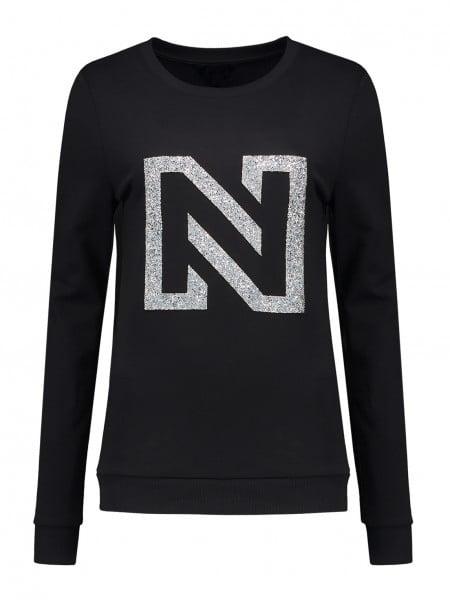 Nikkie by nikkie n logo glitter sweater zwart - Nikkie By Nikkie