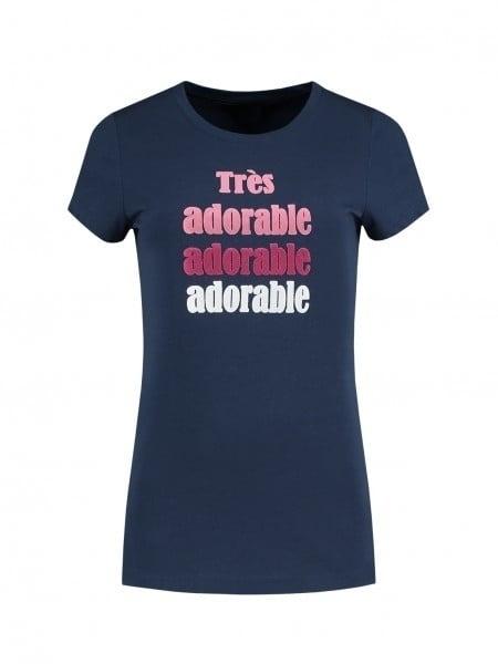 Nikkie by nikkie adorable t-shirt donkerblauw - Nikkie
