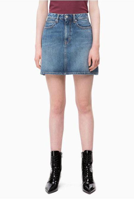Calvin klein mini skirt keeling blue - Calvin Klein