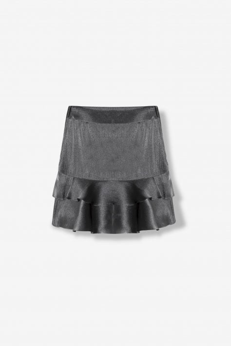 Alix the label shiny skirt zilver - Alix The Label
