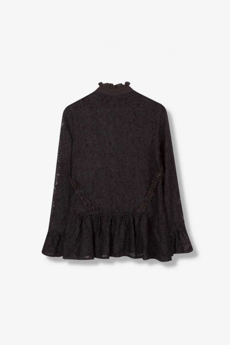 Alix the label knitted lace top zwart - Alix The Label