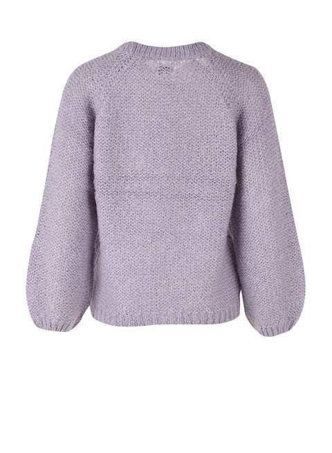 Saint tropez chunky sweater lila grijs - Saint Tropez