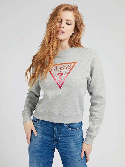 Guess karida fleece sweater grijs - Guess