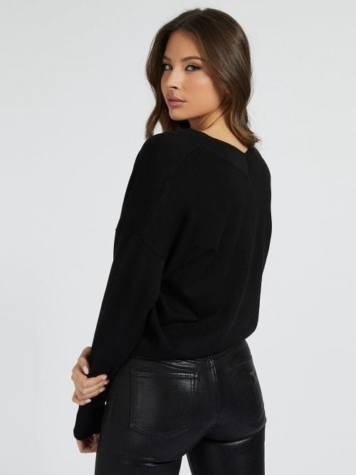 Guess dalia v-neck sweater zwart - Guess