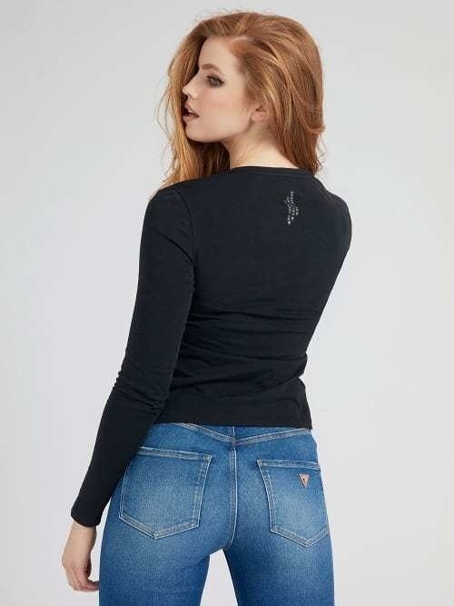 Guess long sleeve icon tee - Guess