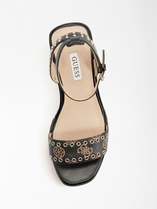 Guess noldo sleehakken zwart/bruin - Guess Shoes