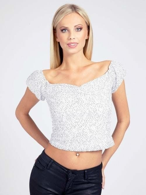 Guess shary top dots art wit - Guess