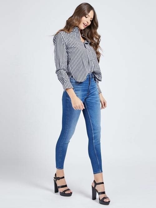 Guess super high skinny jeans blauw - Guess