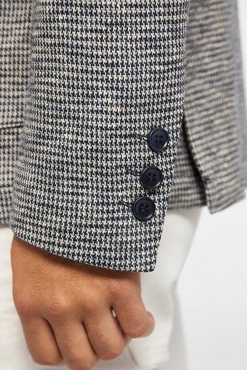 Drykorn vermont colbert grijs geprint - Drykorn