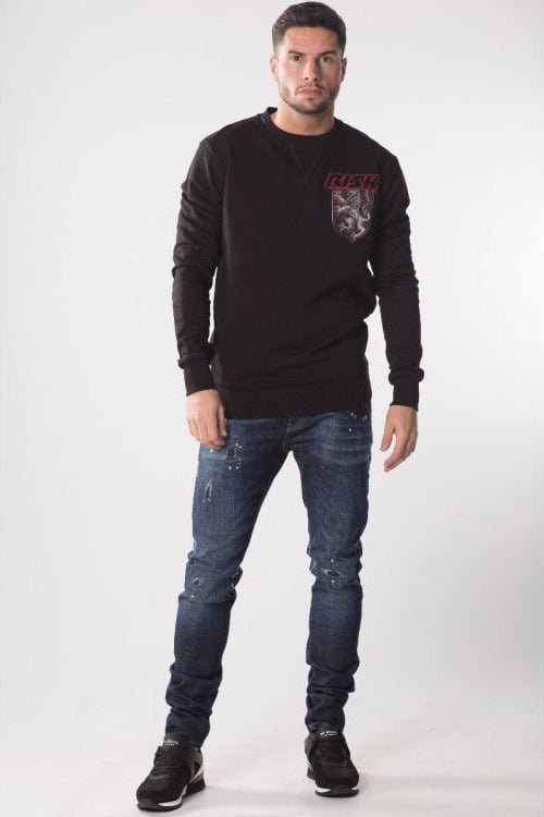 My brand risk lion badge sweater zwart - My Brand