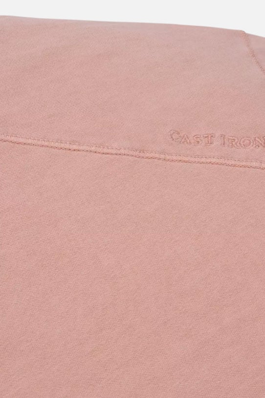 Cast iron r-neck garment dyed jersey roze - Cast Iron