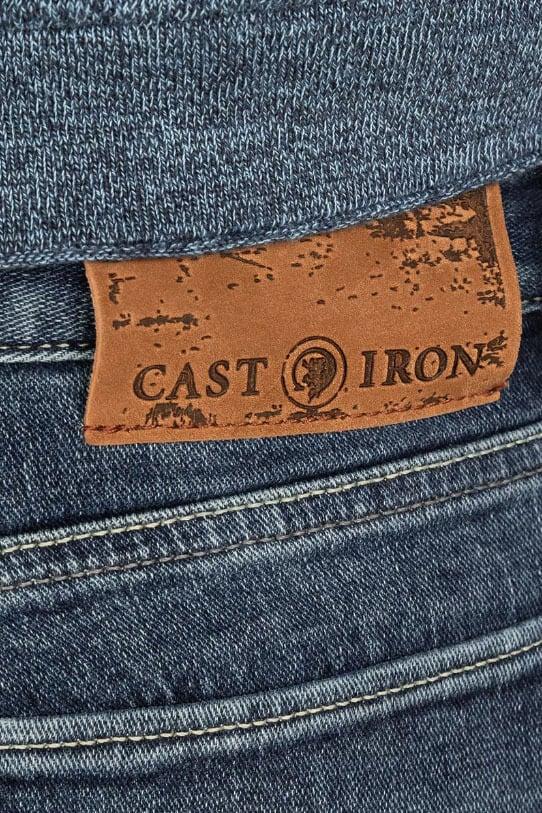 Cast iron riser slim fit soft blauw - Cast Iron