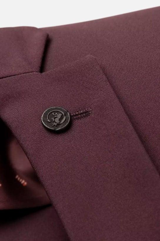 Cast iron blazer cotton nylon stretch rood - Cast Iron