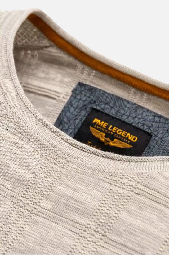 Pme legend crewneck cotton mouline wit - Pme Legend