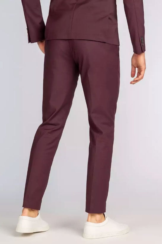 Cast iron chino suit pants rood - Cast Iron