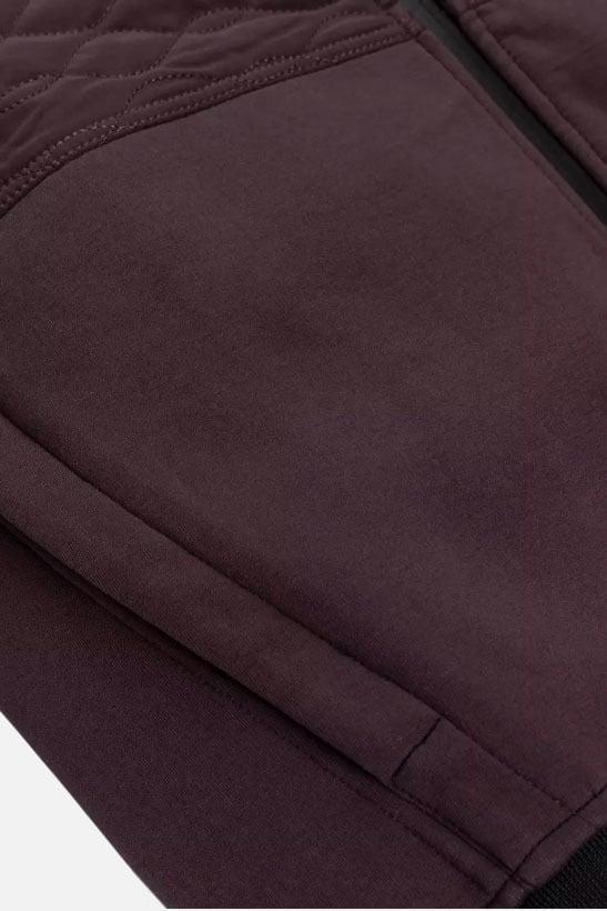 Cast iron hooded tech cotton vest rood - Cast Iron