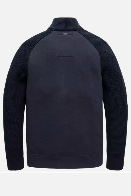 Pme legend zip jacket sweat knit blauw - Pme Legend