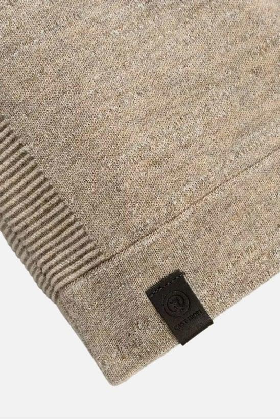 Cast iron mock neck cotton melange wit - Cast Iron