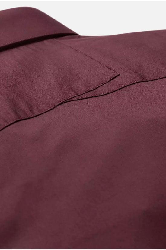 Cast iron long sleeve shirt comfort donker rood - Cast Iron