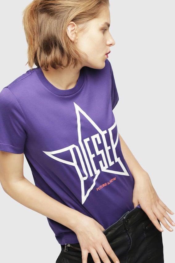 Diesel t-sily-za t-shirt paars - Diesel