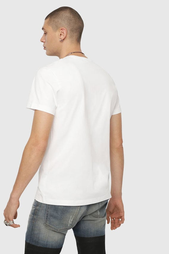 Diesel t-diego-yh t-shirt wit - Diesel