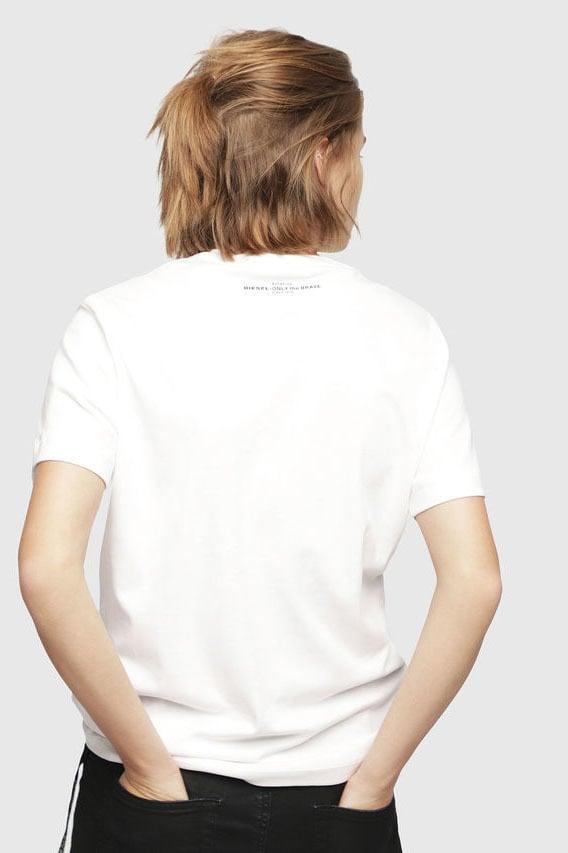 Diesel t-flavia-y t-shirt wit - Diesel