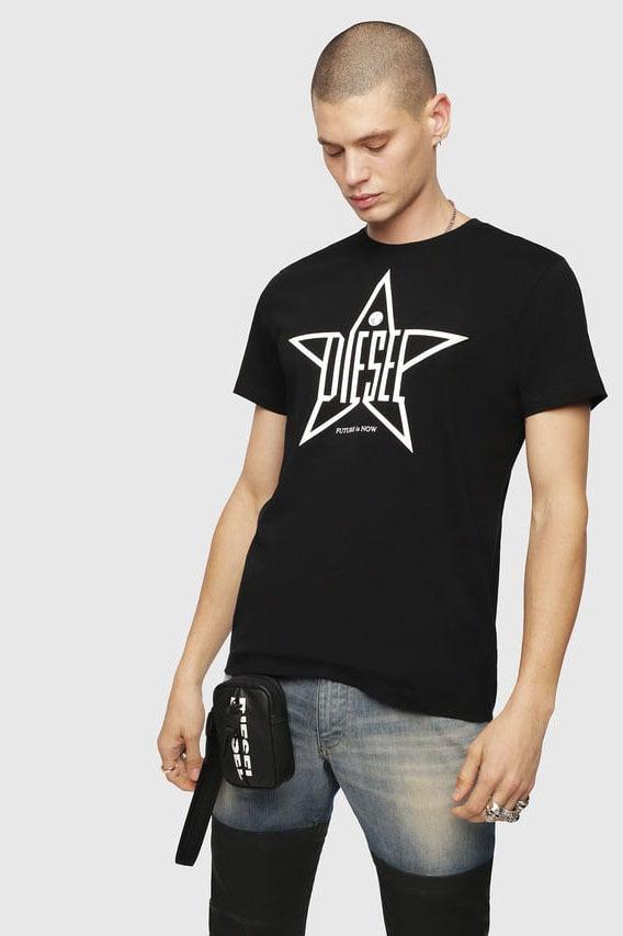 Diesel t-diego-yh t-shirt zwart - Diesel