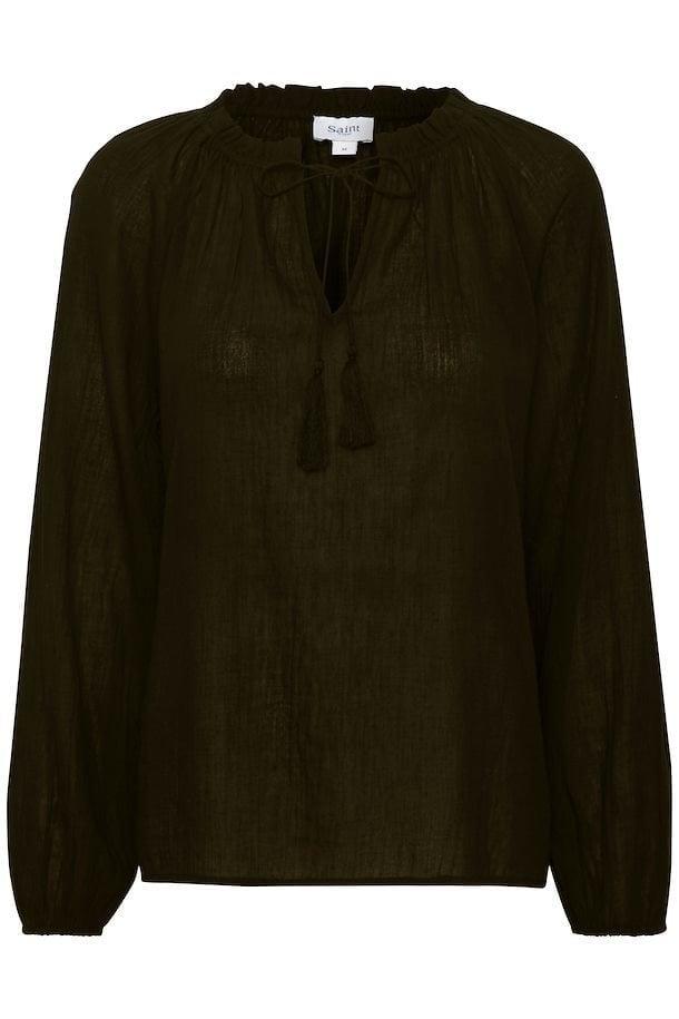 Saint tropez naya blouse donkergroen - Saint Tropez