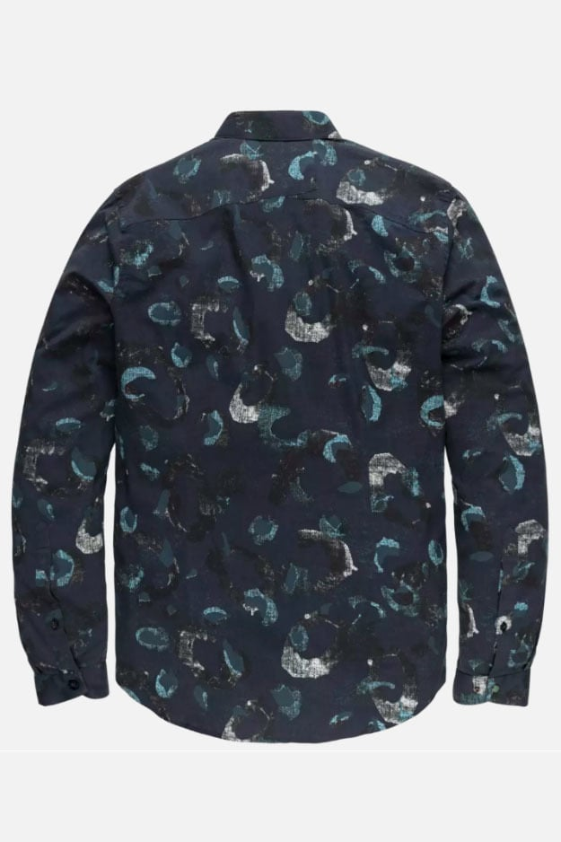 Cast iron long sleeve shirt print blauw - Cast Iron