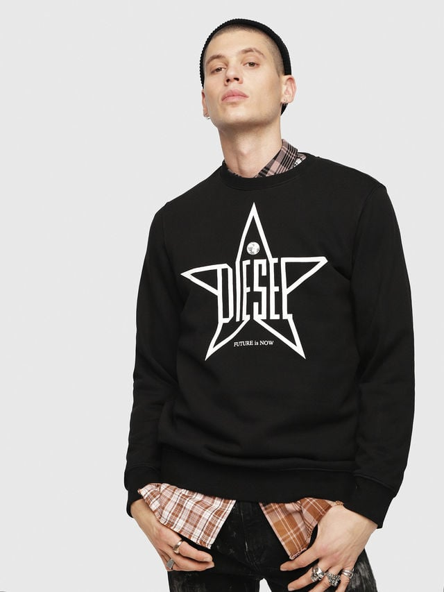 Diesel s-gir-ya sweater zwart - Diesel