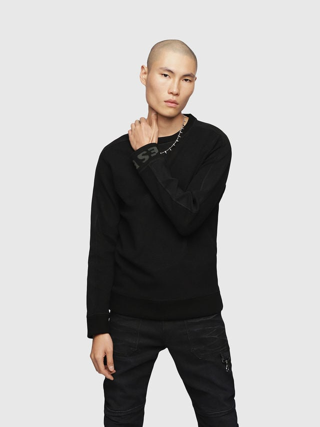 Diesel s-tina-j sweatshirt zwart - Diesel