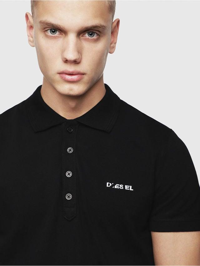 Diesel t-heal-broken-st polo shirt zwart - Diesel