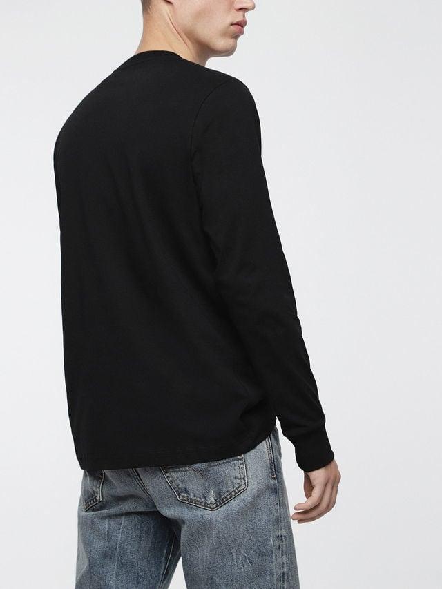 Diesel t-just-ls-division t-shirt black - Diesel