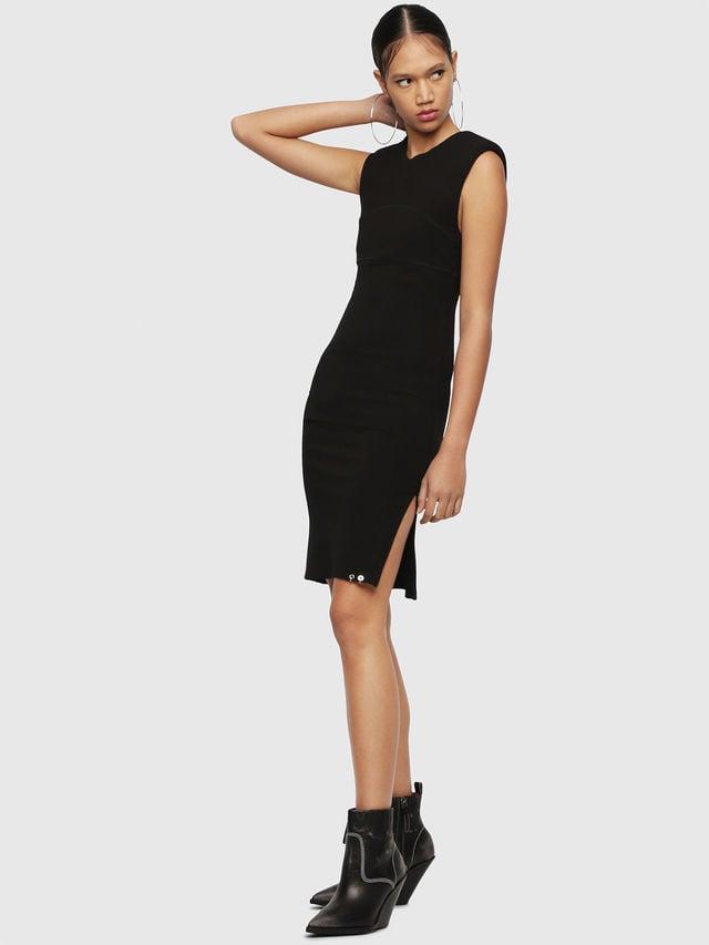 Diesel d-stacie-a jurk zwart - Diesel