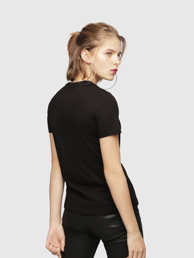 Diesel t-sily-wh t-shirt zwart - Diesel
