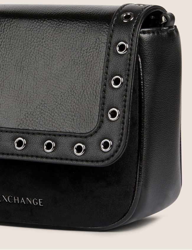 Armani exchange river detail patent finish schoudertas - Armani Exchange