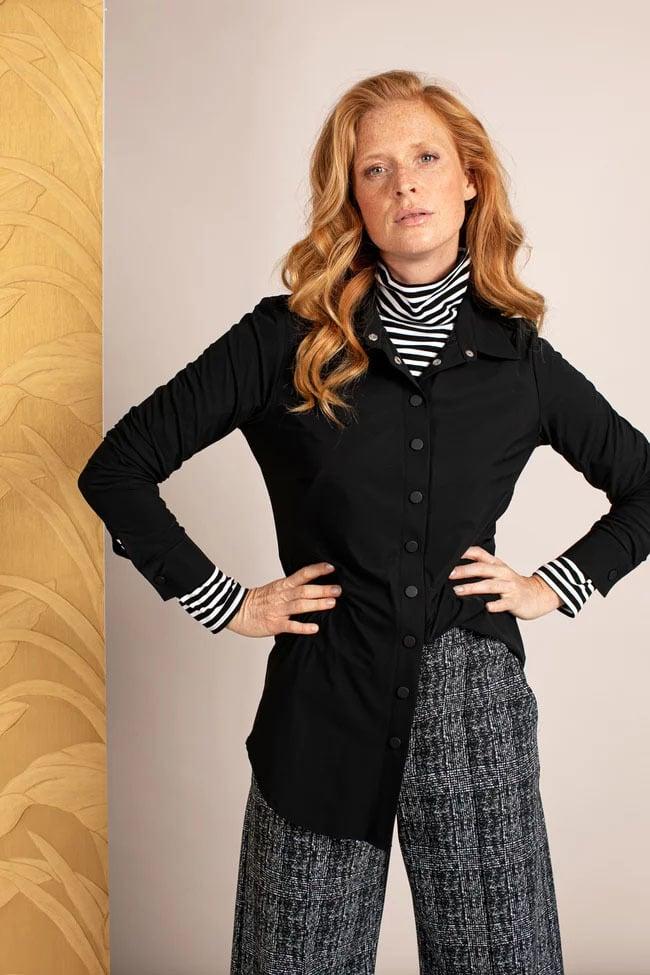 Studio anneloes poppy press button blouse - Studio Anneloes