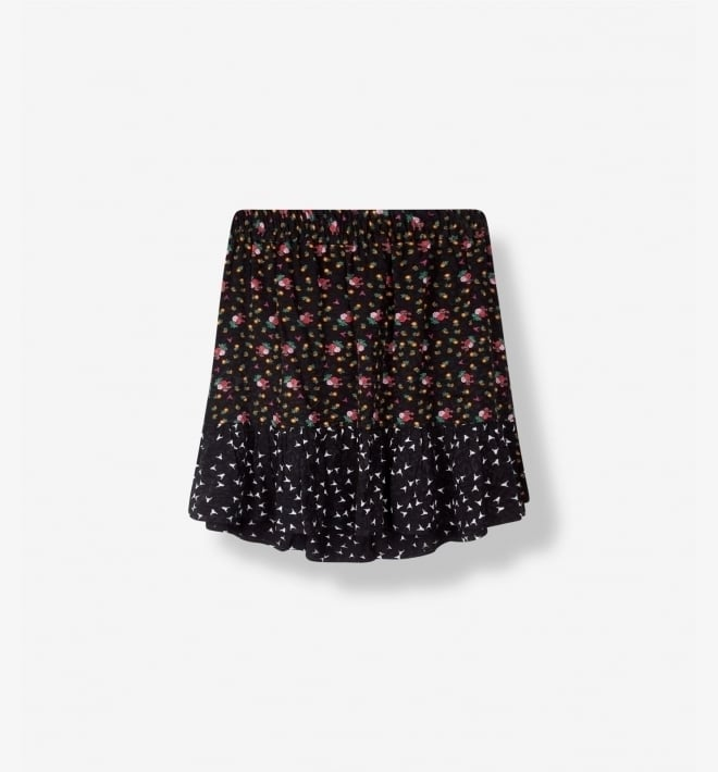 Alix patchwork skirt black - Alix The Label