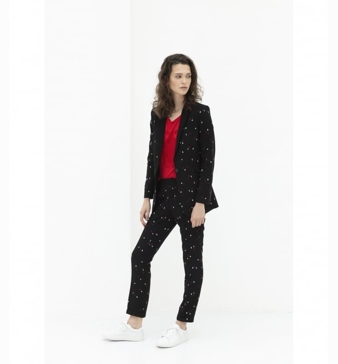 Alix the label graphic blazer black - Alix The Label