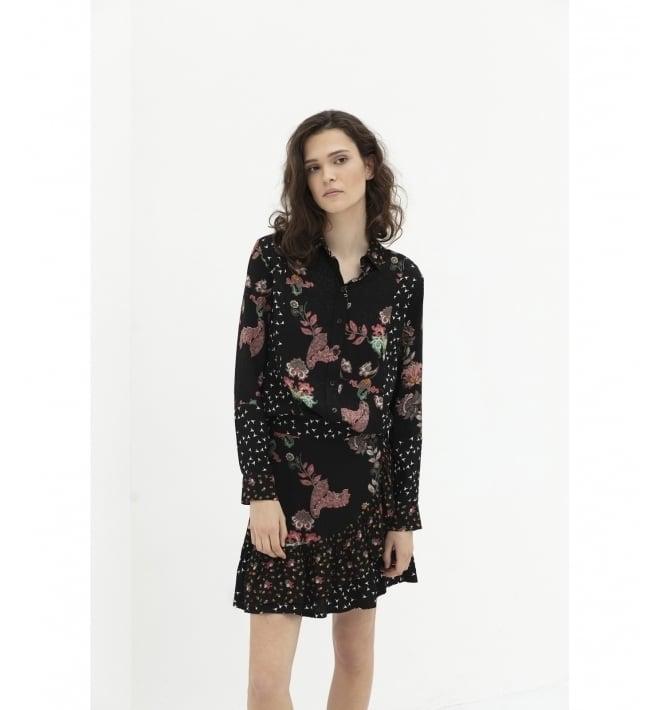 Alix patchwork blouse black - Alix The Label