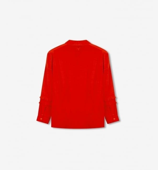 Alix the label ruffle blouse orange red - Alix The Label