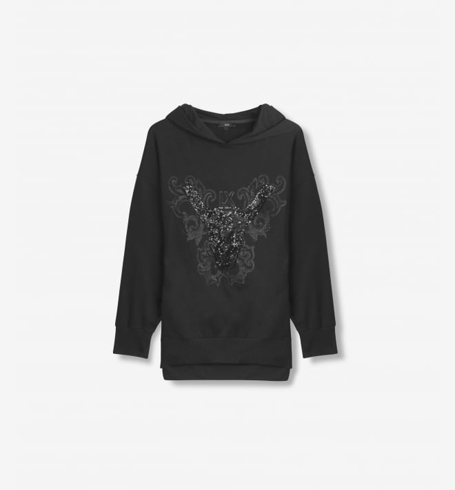 Alix the label sequin hoodie black - Alix The Label