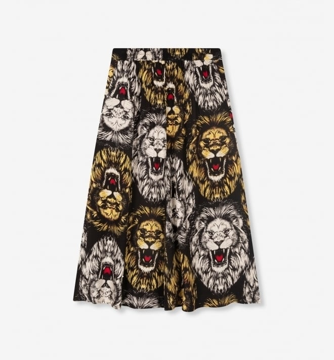 Alix the label lion maxi-rok zwart - Alix The Label
