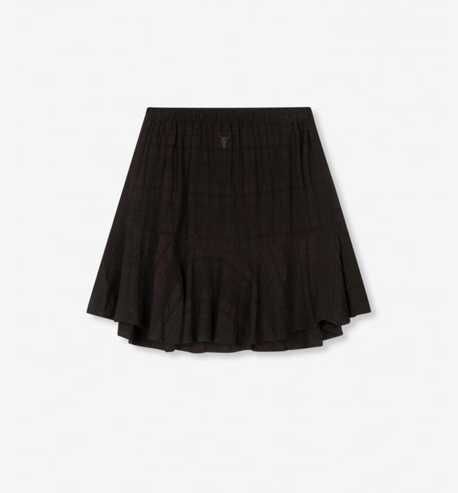 Alix the label seer sucker stripe skirt zwart - Alix The Label