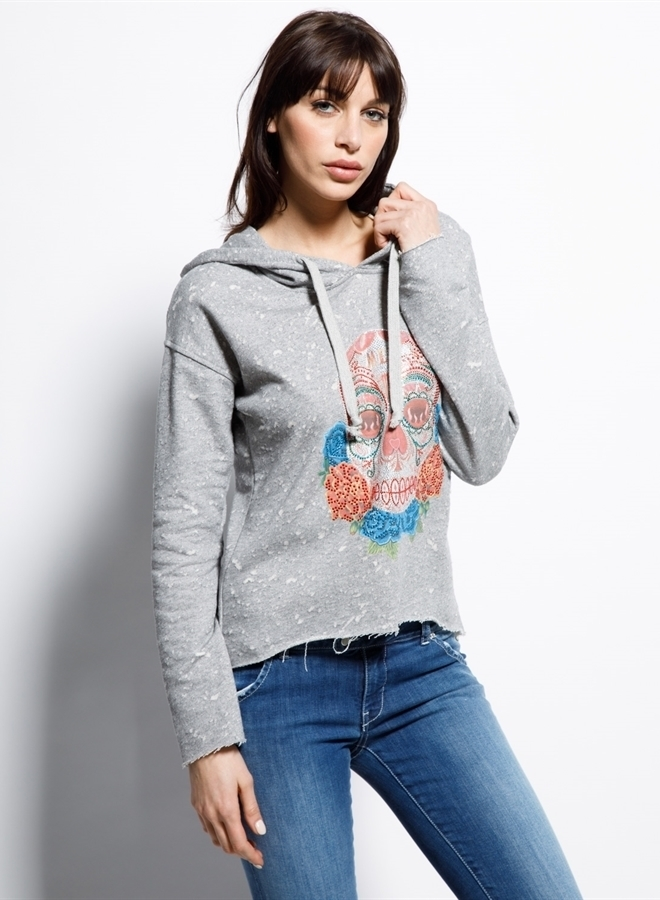 Met introlarge sweater grey - Met Jeans