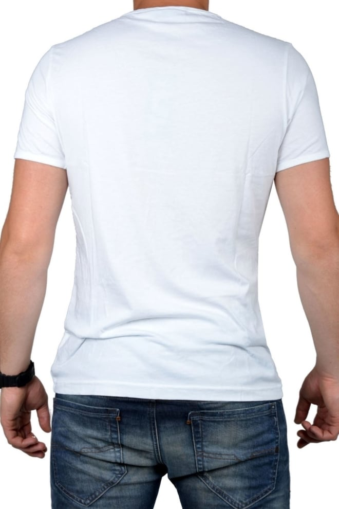 White t-shirt men deep v-neck - Fashionating People
